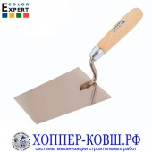 Кельма трапеция 160 мм COLOR EXPERT с деревянной ручкой