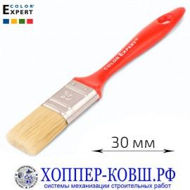 Кисть плоская смешанная щетина 30 мм COLOR EXPERT для красок на водной основе