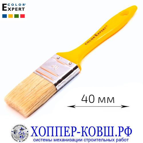 Кисть плоская смешанная щетина 40 мм COLOR EXPERT