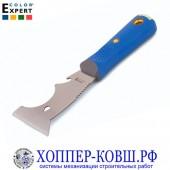 Скребок-шпатель COLOR EXPERT 75 мм с каучуковой ручкой, нержавейка