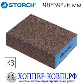 Шлифовальная губка STORCH 98*69*26 мм К3-грубая 470301