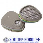 Фильтр для полумаски Jeta Safety 6541 от аммиака, органических и кислых газов ABEK1