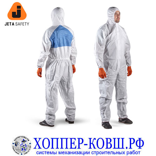 Jeta Safety JPC65 комбинезон защитный от жидкости, кислот, масел, пыли