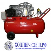 Компрессор Moller AC 650/150 380В 3000Вт, 3 поршня 150л