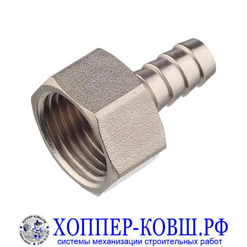 Штуцер F1/2 для шланга 10 мм вн. диаметр