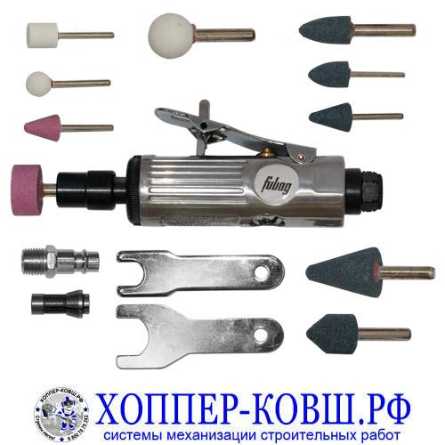 Шлифмашина пневматическая прямая FUBAG GL25000 + оснастка