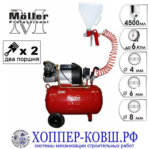 Комплект ПРОФИ R-01 для нанесения декоративной штукатурки, жидких обоев, густых смесей и красок