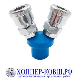 Быстросъём (переходник, двойник) 2FxF1/4 для компрессора