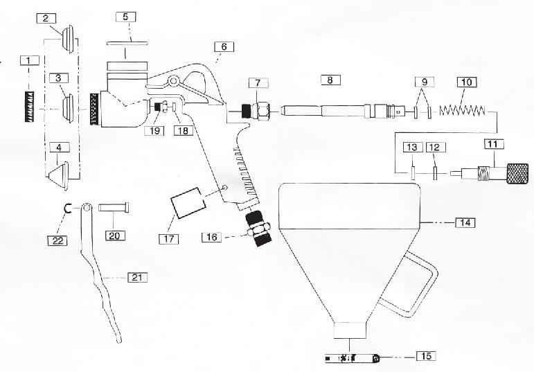 Пистолет текстурный Хоппер -R-10 купить в Москве