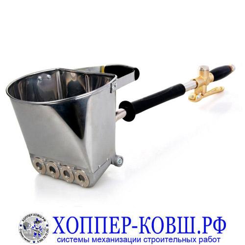 Штукатурный хоппер ковш для стен с ручкой E-01 из нержавеющей стали