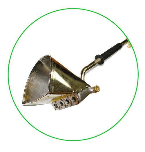 Штукатурный хоппер-ковш стеновой с ручкой (пневмоковш, хоппер ковш, штукатурная лопата) схема подключения