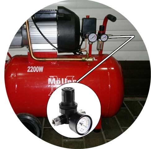 Манометр для регулировки давления для компрессора